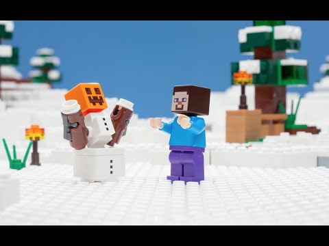 The Snow Hideout - LEGO Minecraft - Stop Motion Mini Movie