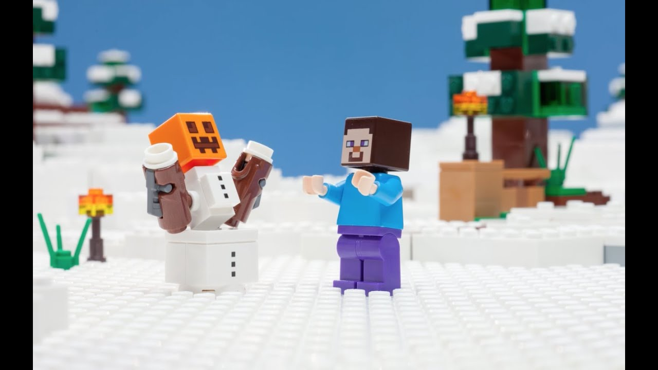 The Snow Hideout – LEGO Minecraft – Stop Motion Mini Movie