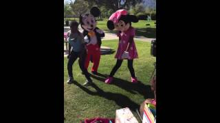 Silento watch me...Mickey Mouse and Minnie Mouse version