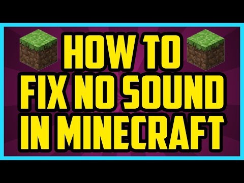 MINECRAFT 1.12.1/1.12/1.11 NO SOUND FIX! FAST AND EASY