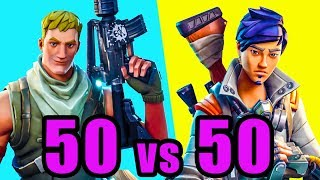 NEW 50v50 Mode! 🚀 Fortnite BR New Update 50 vs 50 Gameplay