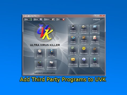 Add Third Party Programs To UVK