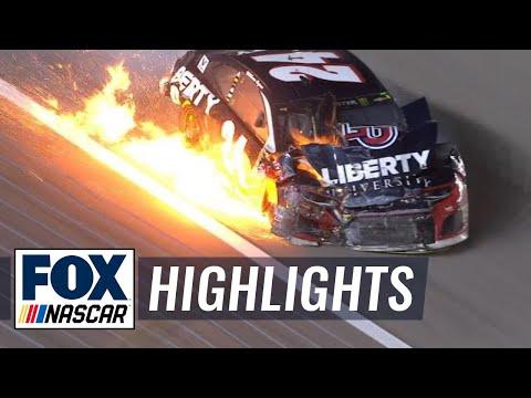 William Byron OK after massive multi-car wreck | 2018 KANSAS | FOX NASCAR