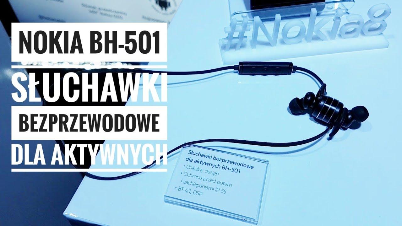 Nokia BH-501 Słuchawki bezprzewodowe dla aktywnych IP55 DSP #Nokia8