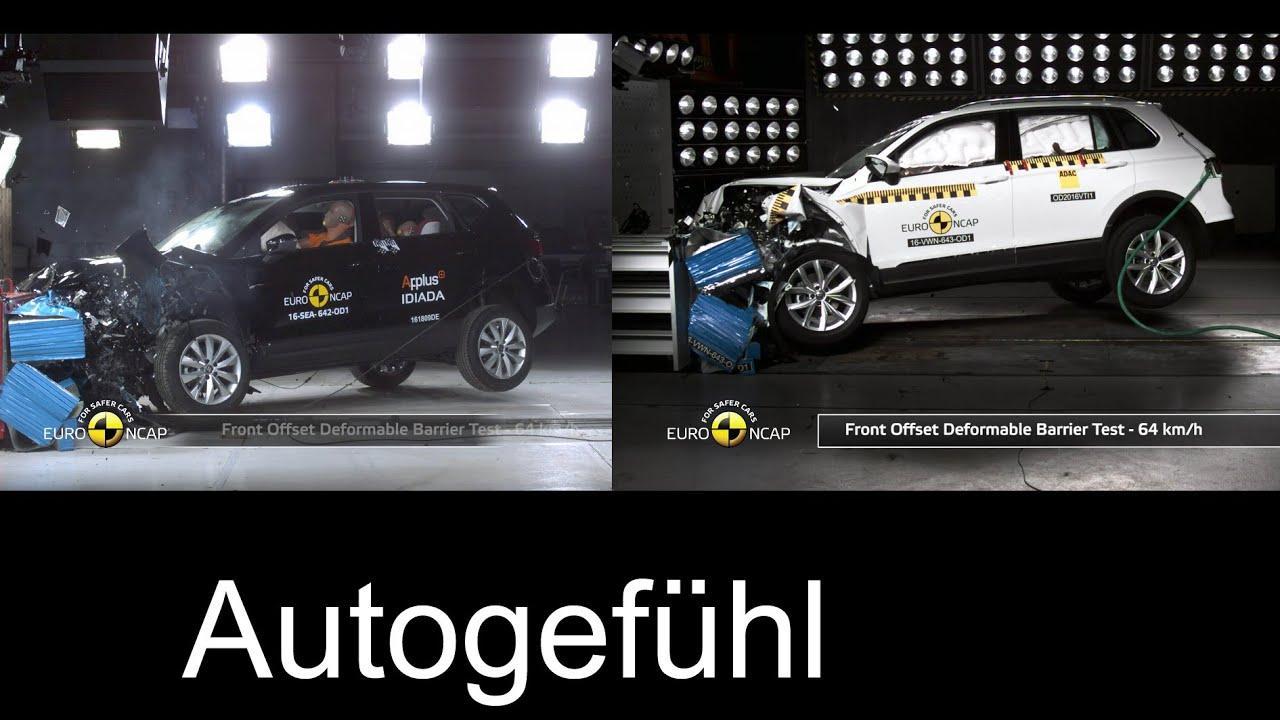 Seat Ateca vs VW Tiguan crash test neu new EURO NCAP Autogefühl