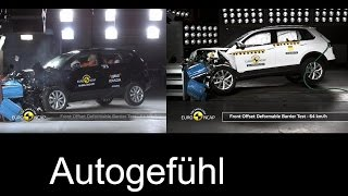 Seat Ateca vs VW Tiguan crash test - neu new EURO NCAP - Autogefühl