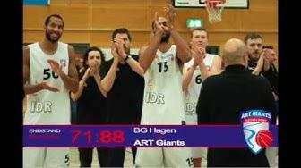 Highlights ART Giants Düsseldorf @ BG Hagen   11. Januar 2019 - 1. Regionalliga West