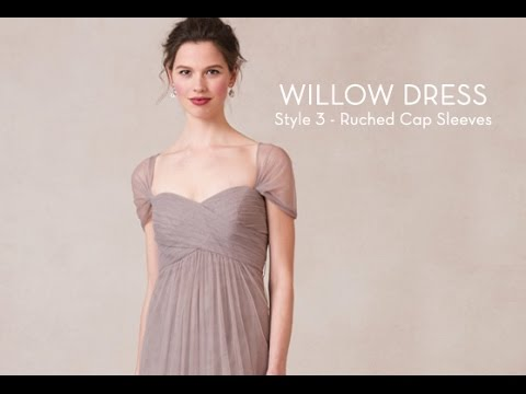 Willow Dress Ruched Cap Sleeves Youtube