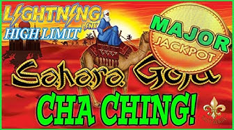 MAJOR JACKPOT! HIGH LIMIT SAHARA GOLD MASSIVE WIN⚡️LIGHTNING LINK LAS VEGAS!