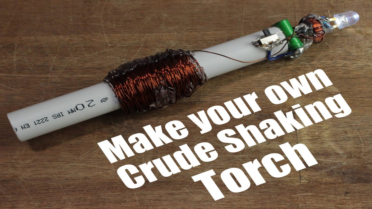 hight resolution of make your own crude shaking torch emergency flashlight