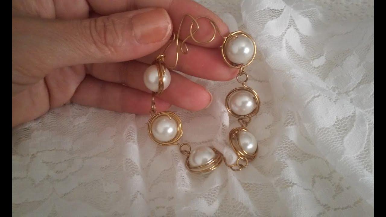 ff8194c96214 como hacer pulseras de perlas pulseras de moda bisuteria pulseras imagenes  de pulseras de perlas by ...
