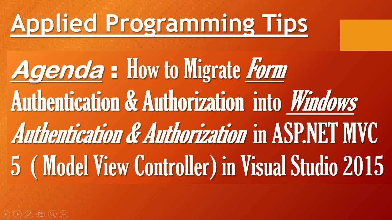 How to implement windows authentication in ASP NET MVC 5 ( Model view  controller) application Best