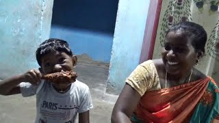 மகி பாப்பா க்கு ரொம்ப பிடித்த Chicken Leg 🍗 Piece   Amala Village Food