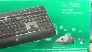 Logitech Wireless Combo MK520 (920-002600) - распаковка