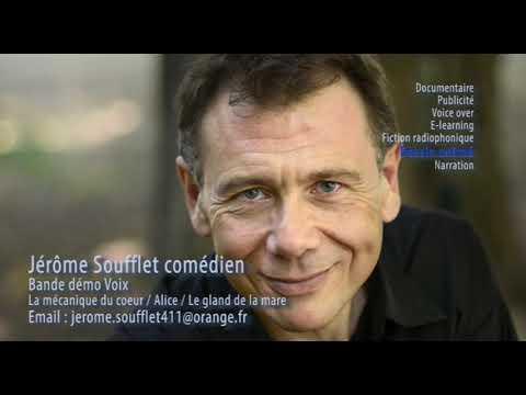 Vidéo Jerome Soufflet comédien bande démo voix 2019