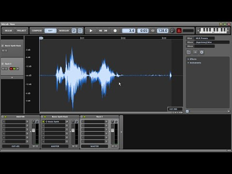 MuLab 7: Recording Audio