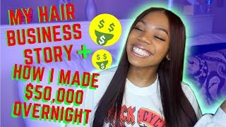 STORYTIME: HOW I STARTED MY HAIR BUSINESS AT 19! + MADE $50,000 IN ONE NIGHT | Jasx Aigner