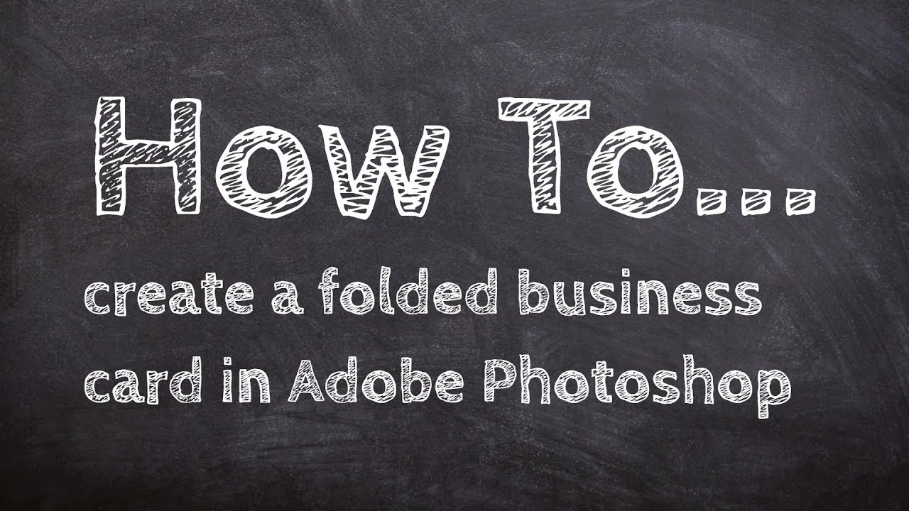 How to set up a folded business card in adobe photoshop youtube how to set up a folded business card in adobe photoshop reheart Images