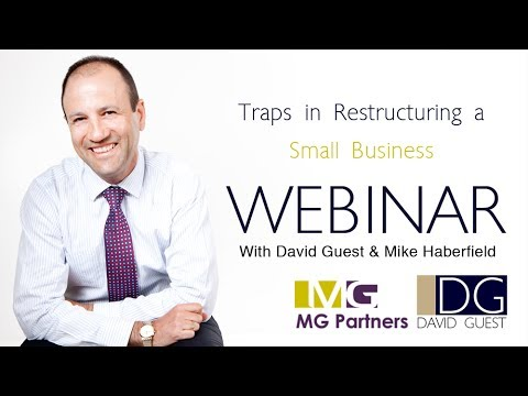 5 Traps in Restructuring a Small Business