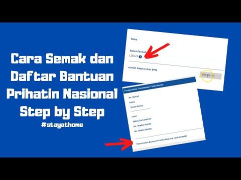 Cara Mohon Bantuan Prihatin Nasional Step By Step Youtube