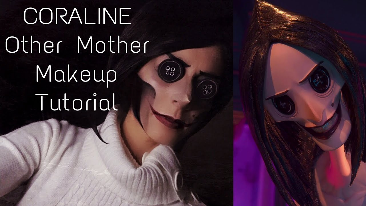 Coraline Makeup Tutorial Easy Sfx By Mads