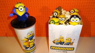 2015 Minions Movie Cinema Pack Bob - Kevin - Stuart Figures Collection in Europe 迷你小兵