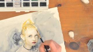 Elle Fanning Time lapse Painting
