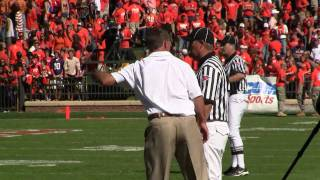 Dabo Swinney Argues the No Call Offsides and Late Hit