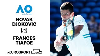 Novak Djokovic v Frances Tiafoe | Australian Open 2021 - Highlights | Tennis | Eurosport