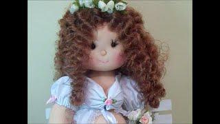 Boneca mamãe /roupinha/ cabelo canecallon
