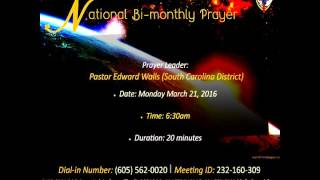 Video National Prayer March 21, 2016  Pastor Edward Watts download MP3, 3GP, MP4, WEBM, AVI, FLV Oktober 2017