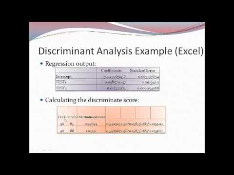 365, ch 10 discriminant analysis & logistic regression