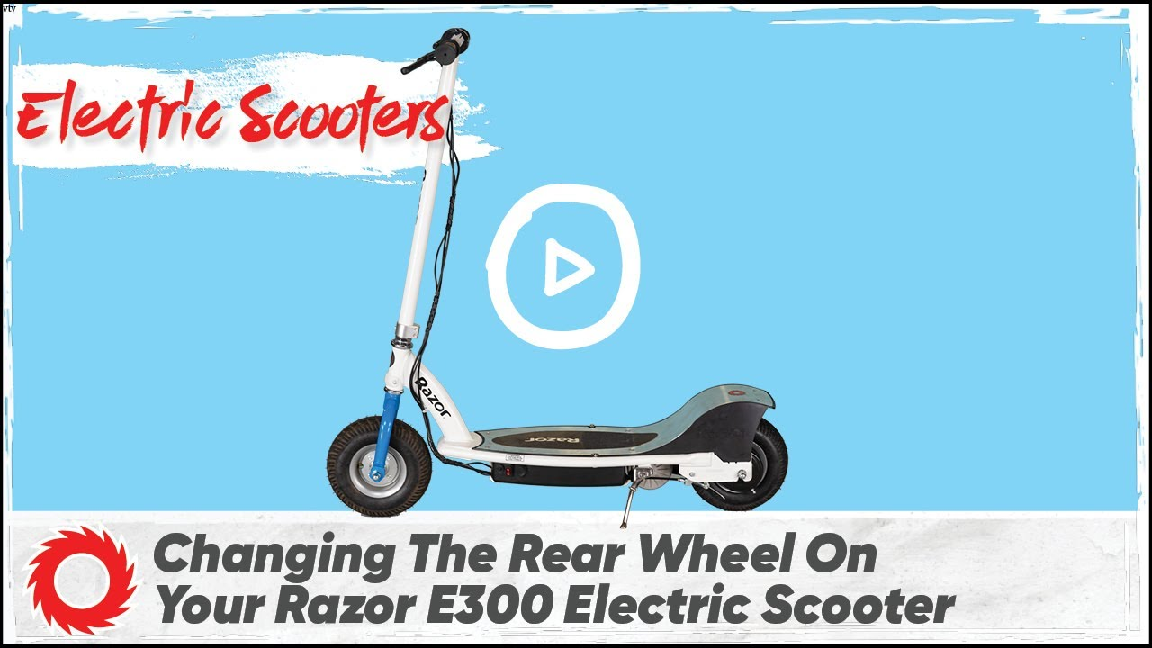 how to change rear tire on razor electric scooter