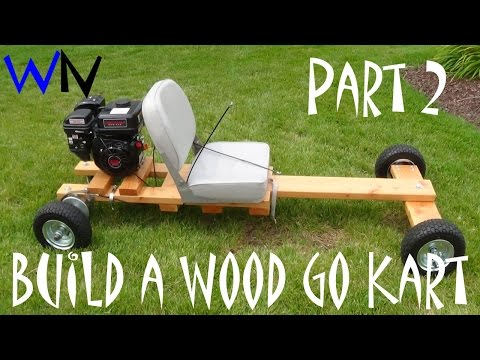 How to Build a Wood Go Kart Part 2 of 3 (Front & Rear Axle Assembly)