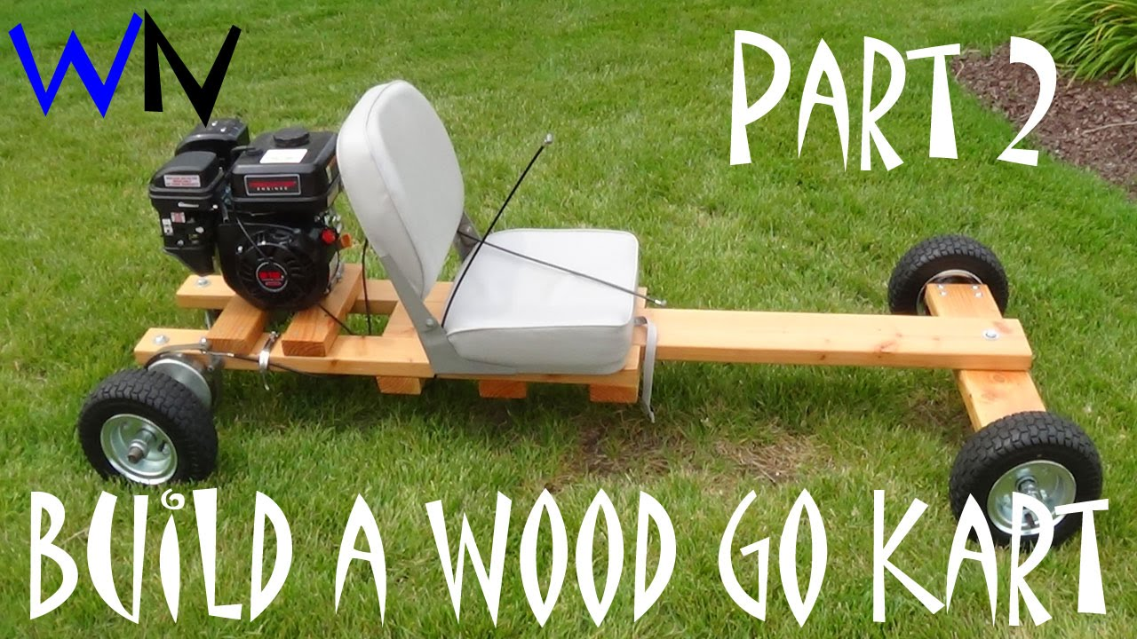 Go Kart Front Axle Assembly : How to build a wood go kart part of front rear axle