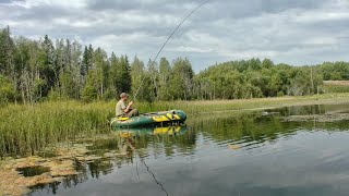 Рыбалка на озере в последние дни лета #353