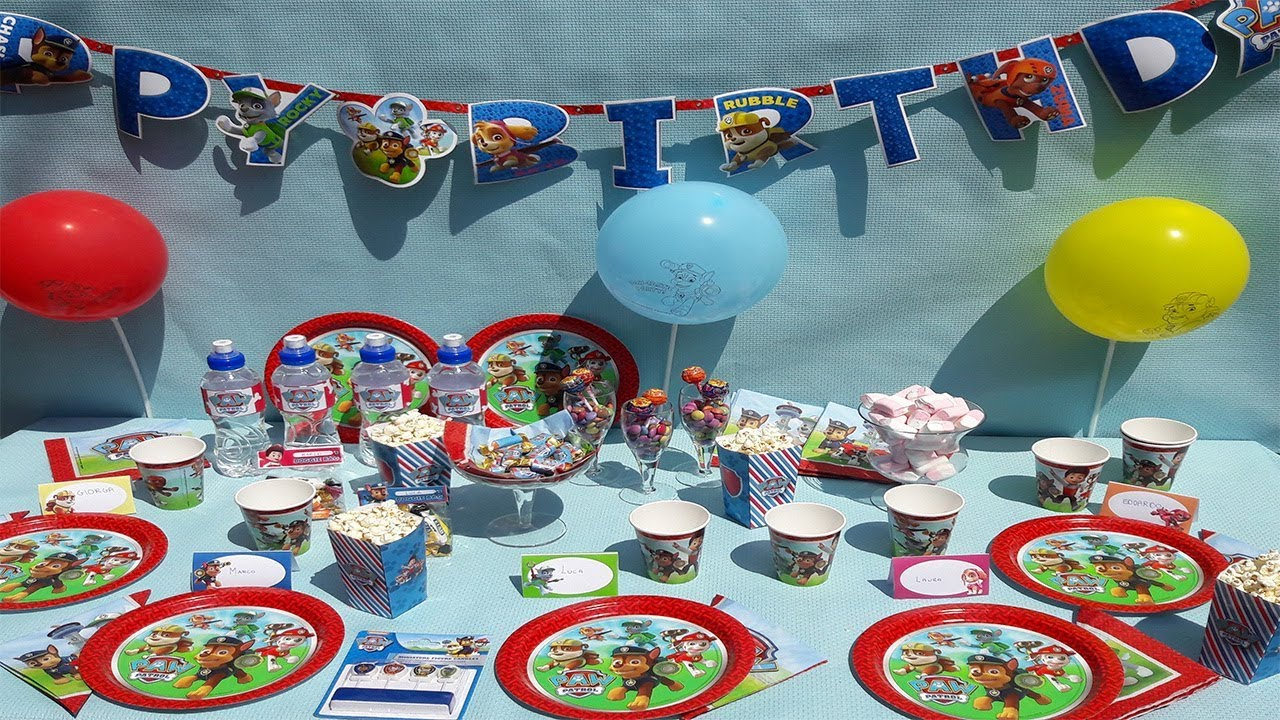 Top Come organizzare una Festa per Bambini a tema Paw Patrol: idee  LV69