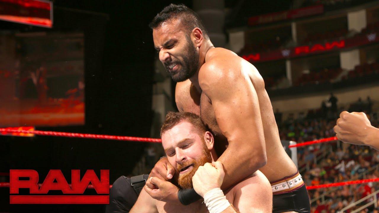 Image result for WWE Raw 12 December 2016 - Sami Zayn vs Jinder Mahal Full Match