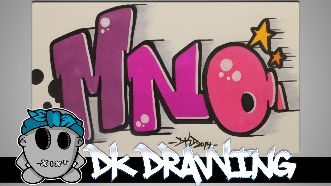 How to draw graffiti - Graffiti Letters MNO step by step - YouTube