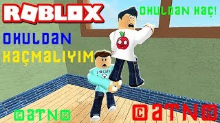 WE'RE RUNNING AWAY FROM SCHOOL! / Escape School Obby / Roblox english