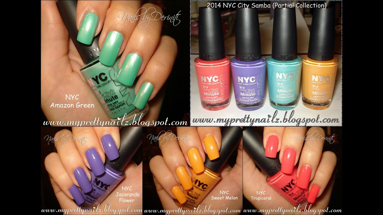 Nyc New York Color Limited Edition City Samba Nail Polish Collection Swatches You