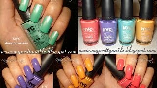 NYC New York Color Limited Edition City Samba Nail Polish Collection Swatches