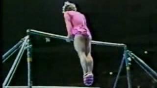 1981 Nadia Tour gymnastics Paul Hunt comedy uneven bars thumbnail