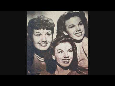 The Dinning Sisters - I Wonder Who's Kissing Her Now (1947).