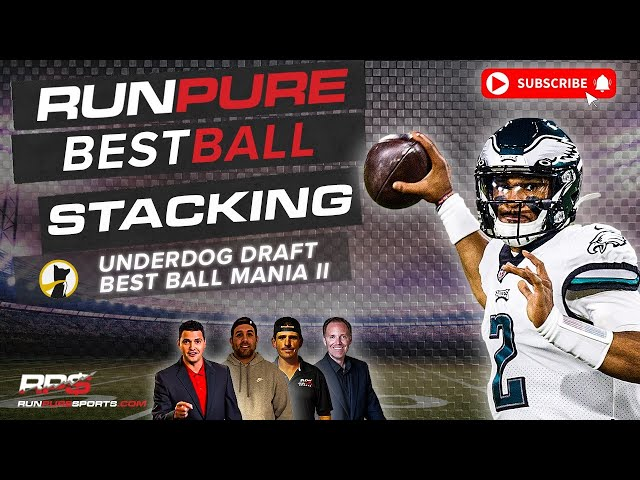NFL BEST BALL DRAFTING - STACKING IN UNDERDOG BEST BALL MANIA II