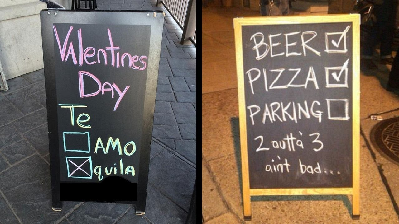 funny and creative bar and restaurant signs youtube