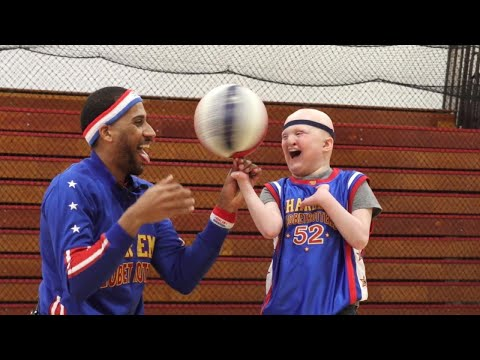 10YearOld With Genetic Disorder Gets Honorary Jersey From Harlem Globetrotters