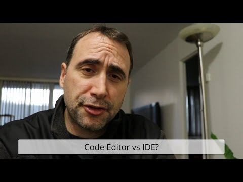 Code Editor vs an IDE