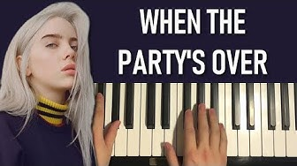 HOW TO PLAY - Billie Eilish - when the party's over (Piano Tutorial Lesson)
