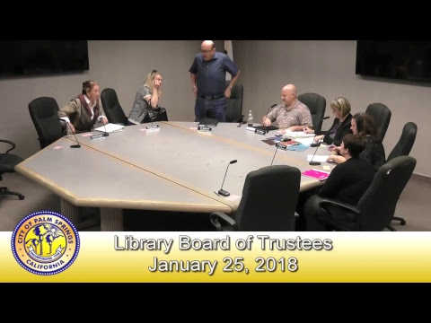 Library Board of Trustees | January 25, 2018